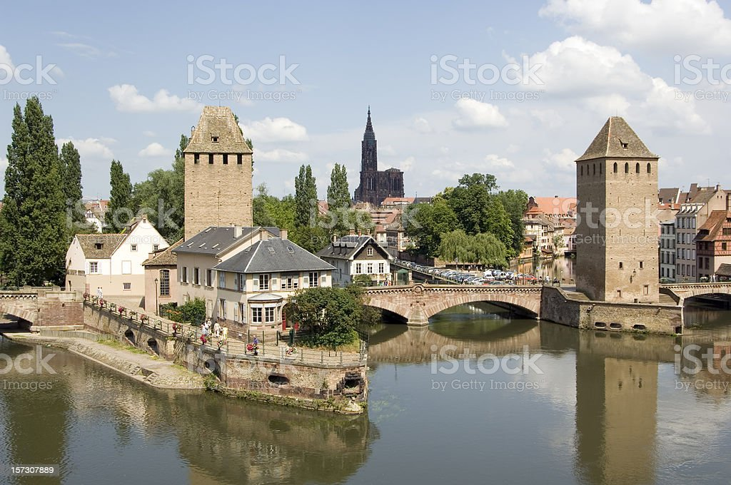Romantic medieval Strasbourg, France royalty-free stock photo