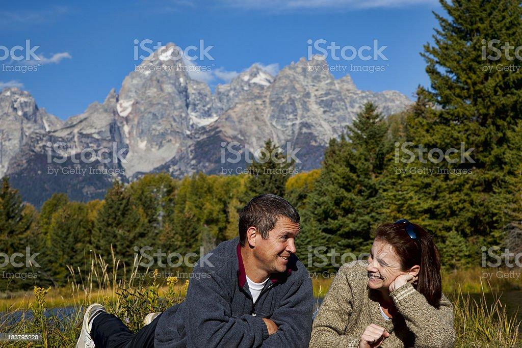 Romantic Morning in Grand Tetons National Park. royalty-free stock photo