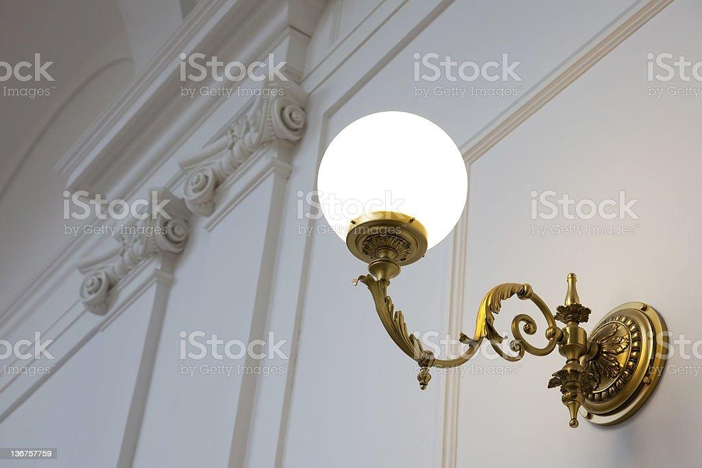 Romantic old lamp stock photo