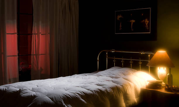 Top 60 Night Bedroom Stock Photos Pictures And Images Istock