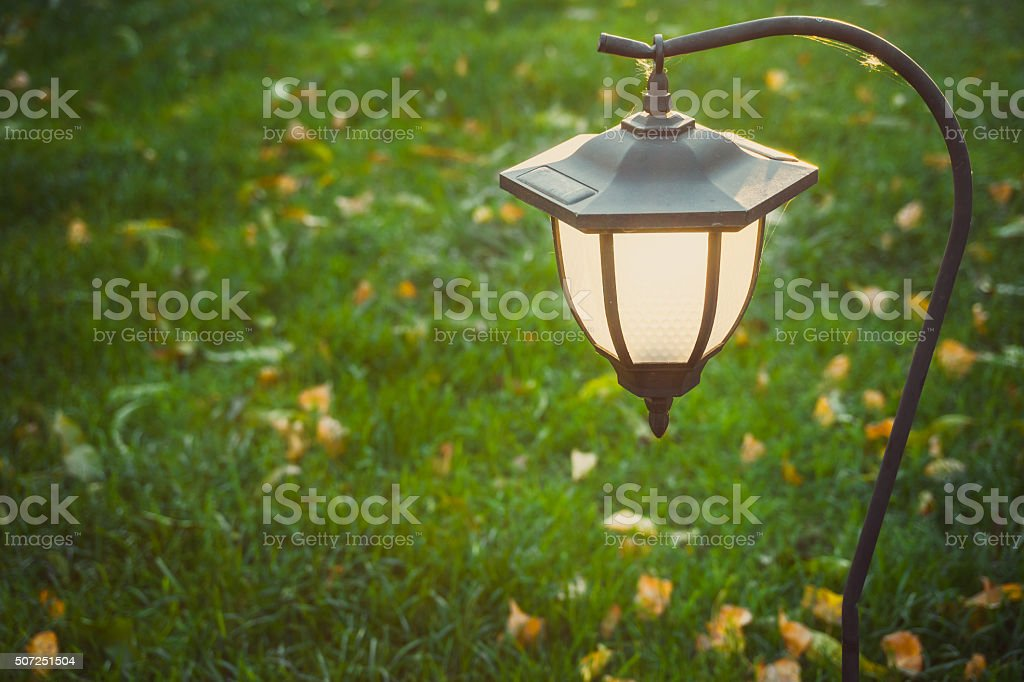 Romantic outdoor flashlight stock photo