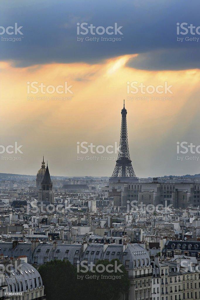 Romantic Paris, France royalty-free stock photo