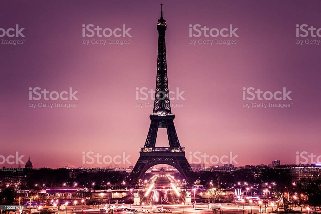 Romantic Paris with Tour Eiffel stock photo