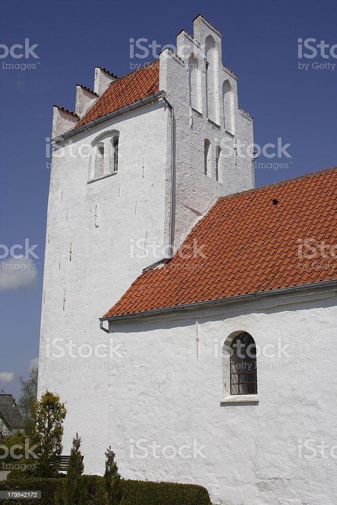 Romantic parish church stock photo