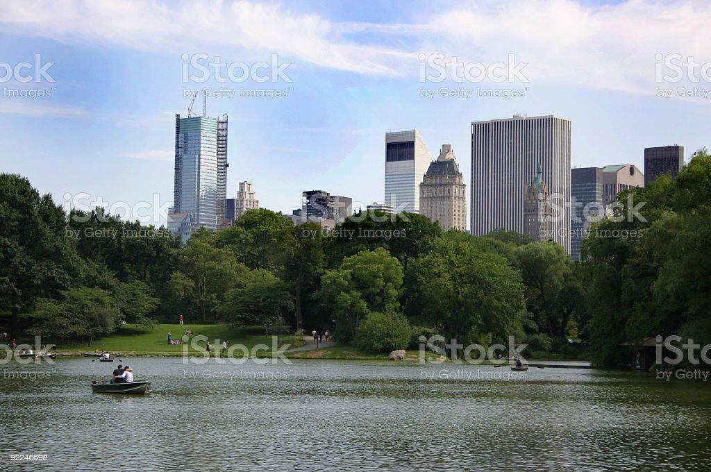 Romantic picture, Central Park Lake. royalty-free stock photo