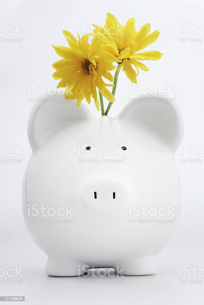 romantic piggybank royalty-free stock photo