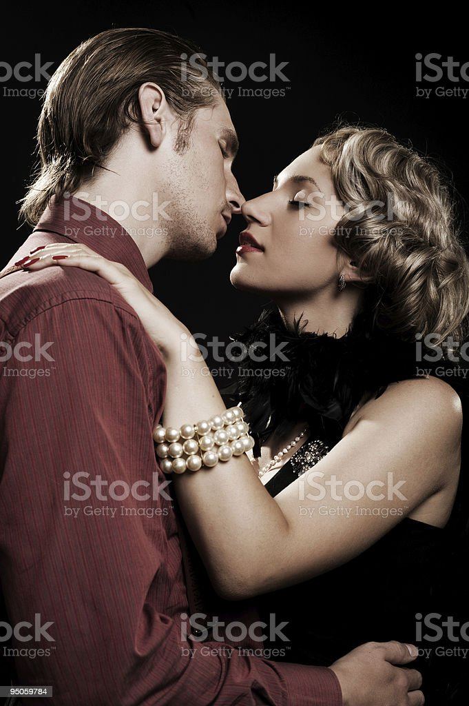 romantic portrait of beautiful couple royalty-free stock photo