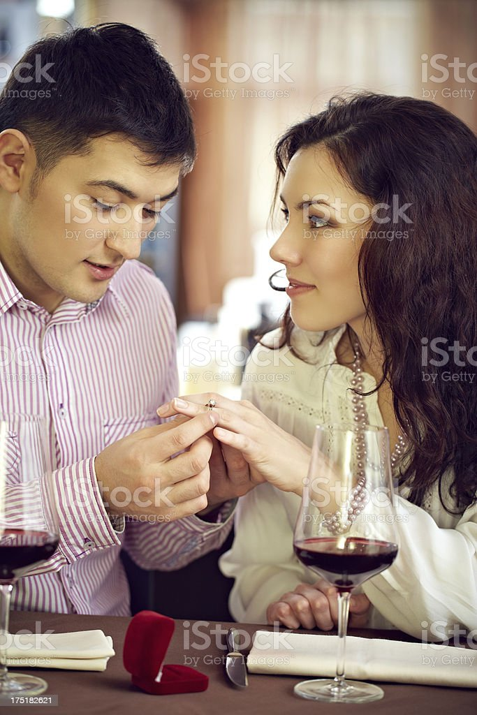 Romantic proposing royalty-free stock photo