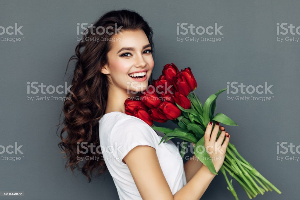 Romantic roses for lady royalty-free stock photo