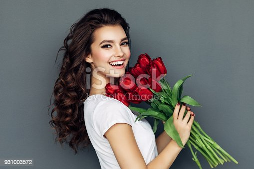 Romantic roses for lady