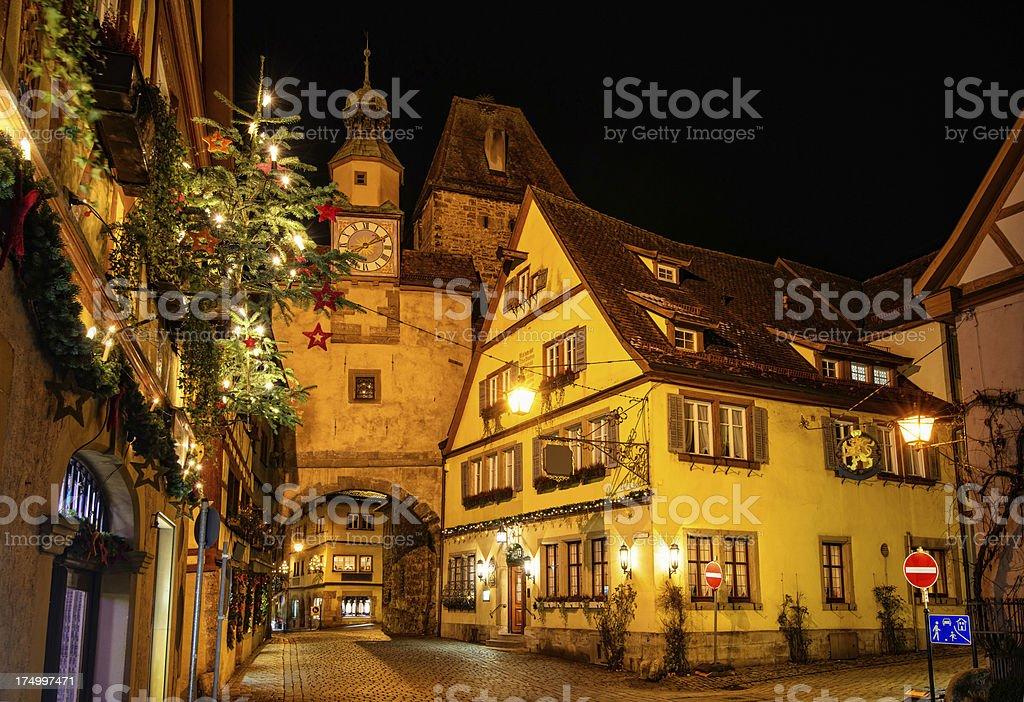 Rothenbourg de l'avent nuit romantique - Photo