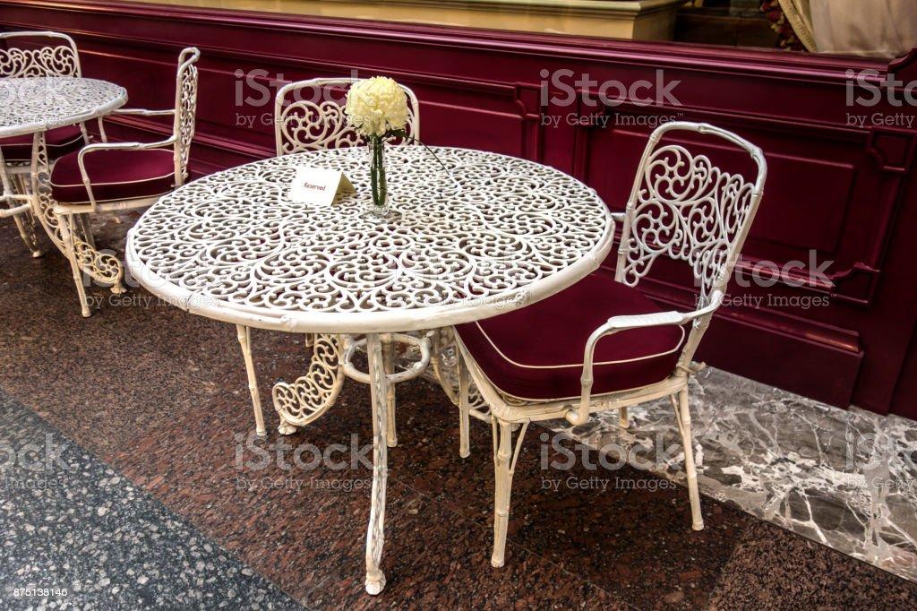 Esquina de asiento romántico - foto de stock