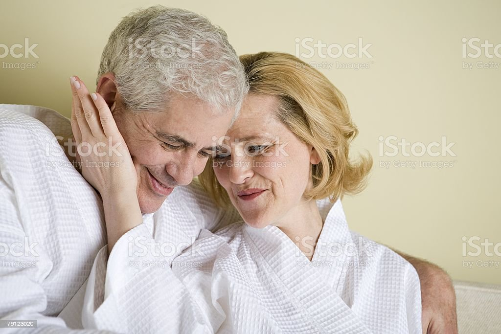 Romantic senior couple 免版稅 stock photo
