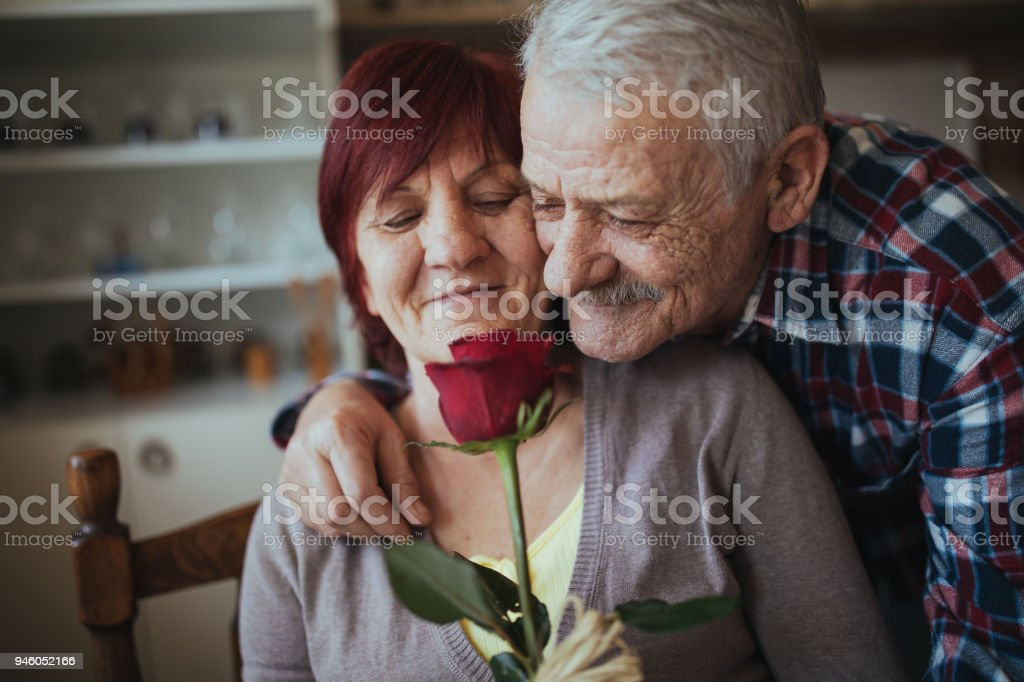 Romantic senior couple royalty-free stock photo