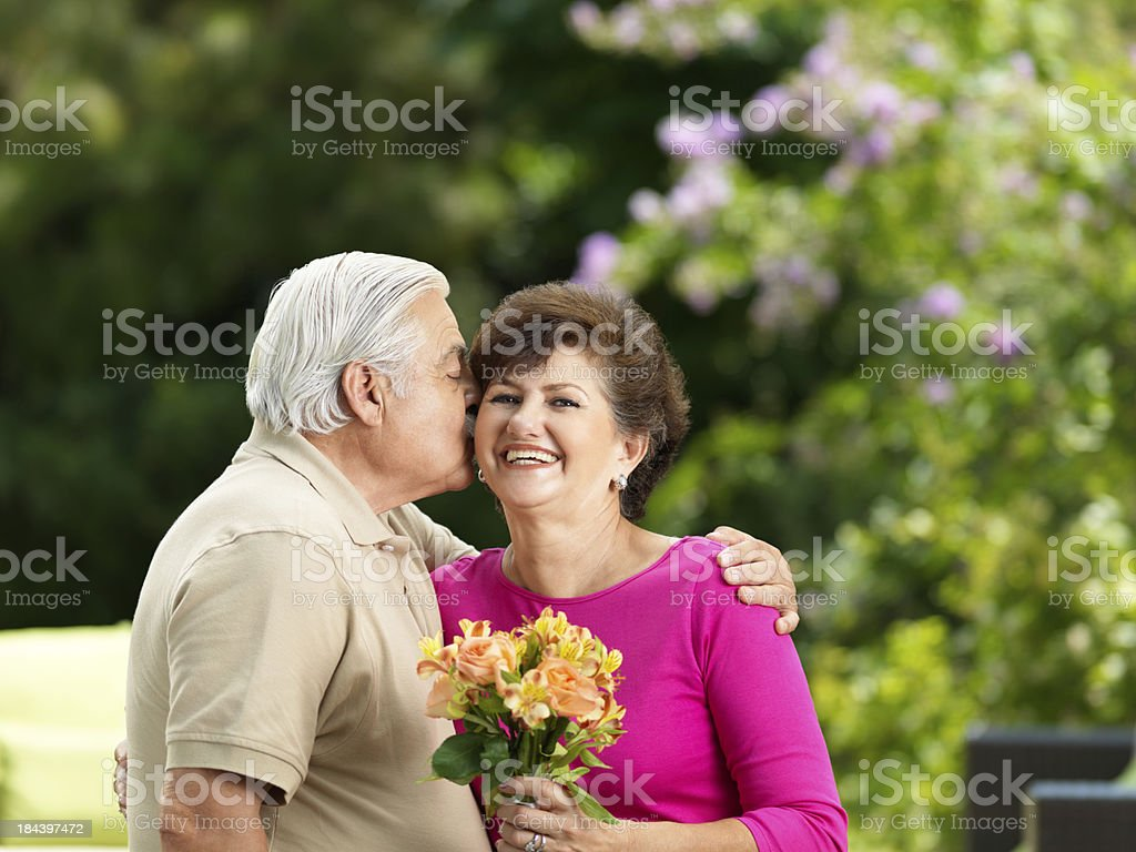 Romantic senior husband and wife royalty-free stock photo