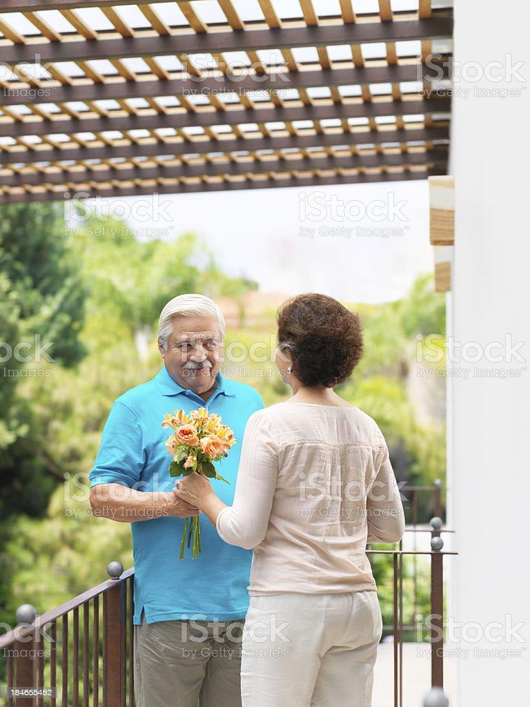 Romantic senior husband and wife royalty-free stock photo