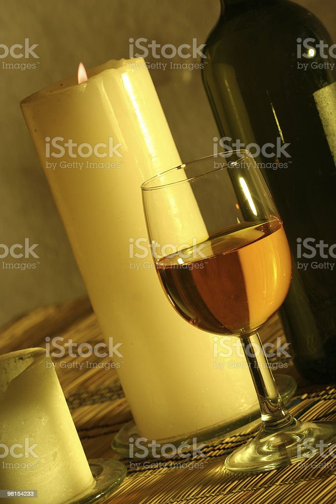 Romantic setting with wine royalty-free stock photo