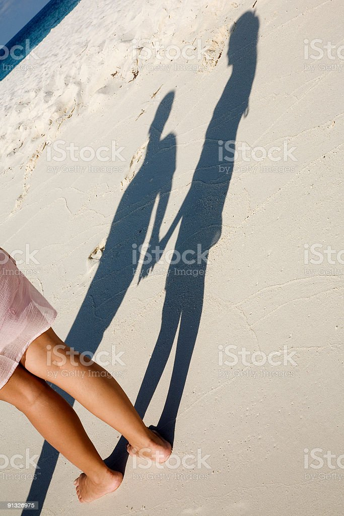romantic shadow royalty-free stock photo