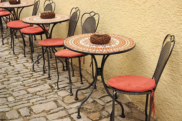 Romantische sidwalk Café – Foto