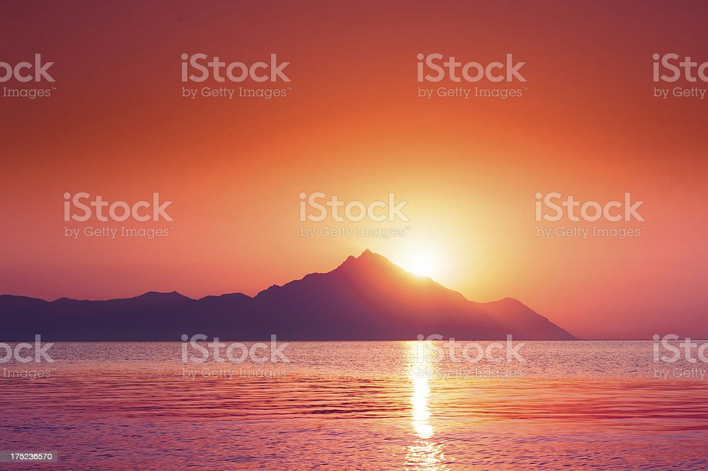 Romantic sky stock photo