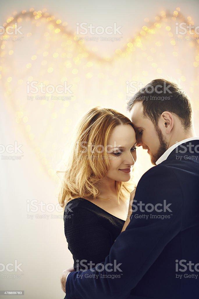 Romantic slow dance stock photo