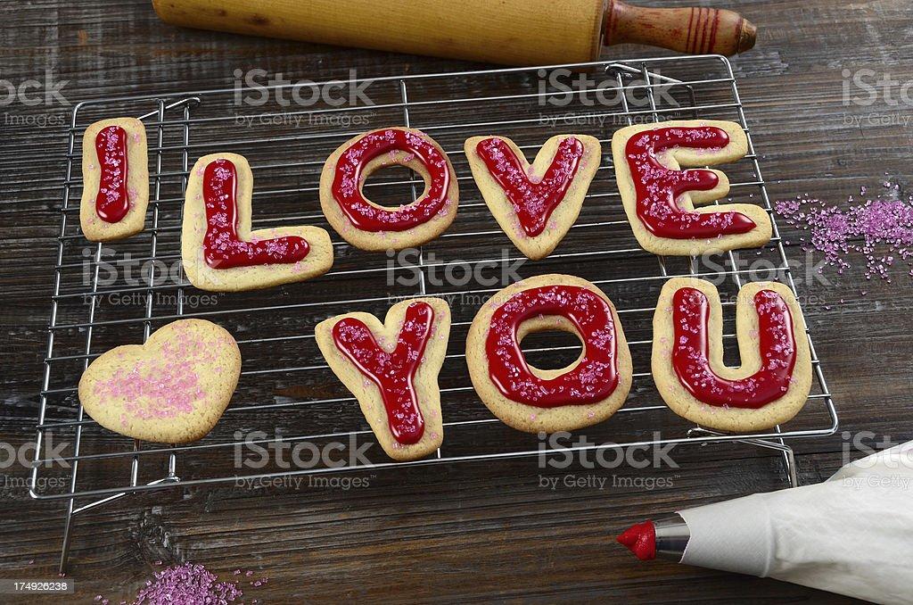 Romantic Sugar Cookies royalty-free stock photo