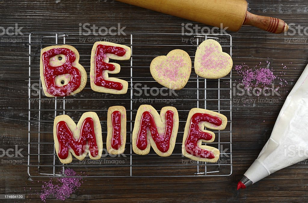 Romantic Sugar Cookies royalty-free stock photo