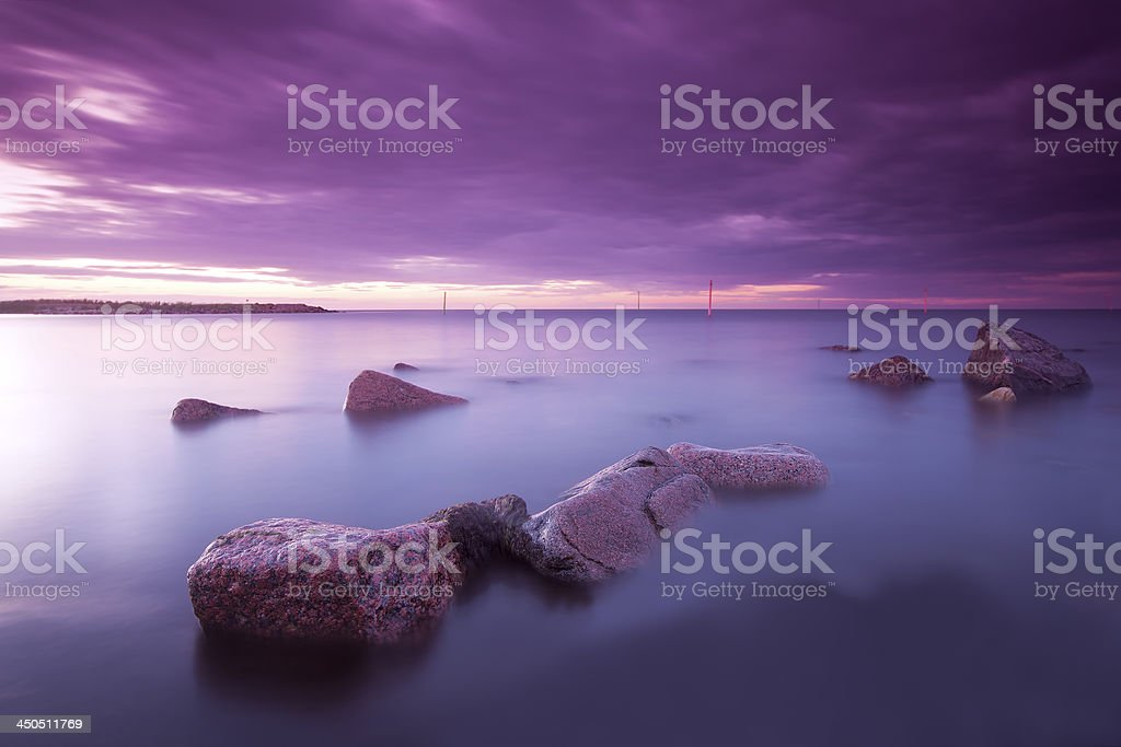 Romantic sundawn, vibrant summer photo royalty-free stock photo