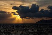 istock Romantic Sunset at Damar Island in the Banda Sea, Indonesia 1159686850