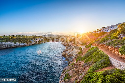 istock Romantic sunset on Cala Romantica - Majorca 487138072