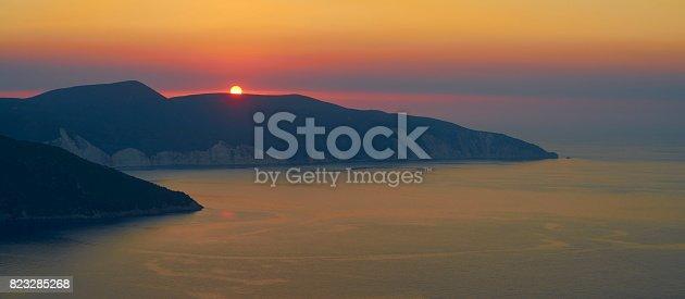 823335112 istock photo Romantic sunset over Kefalonia 823285268