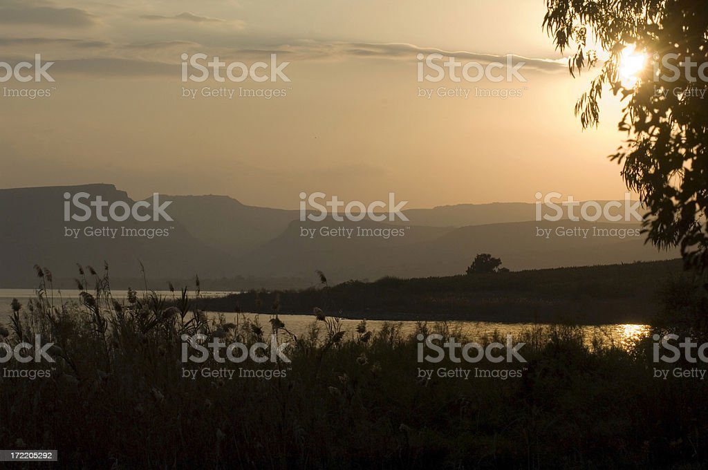 Romantic sunset royalty-free stock photo
