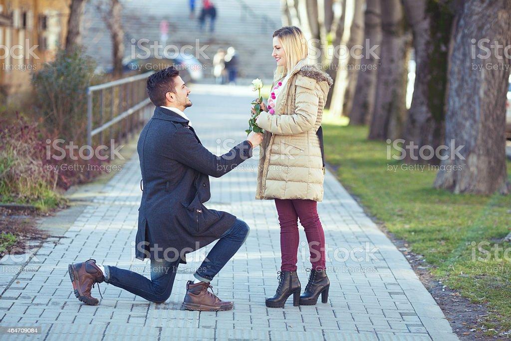 Romantic Surprise stock photo