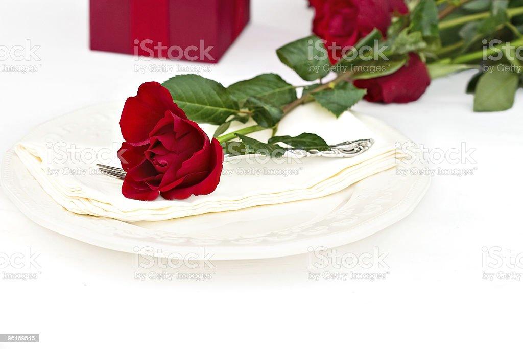 Romantic Table Setting royalty-free stock photo