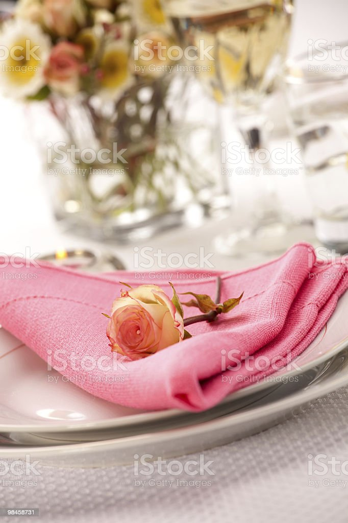 Romantic table settings royalty-free stock photo