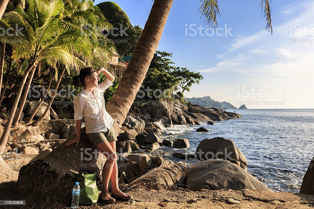Romantic tropical beach royalty-free stock photo