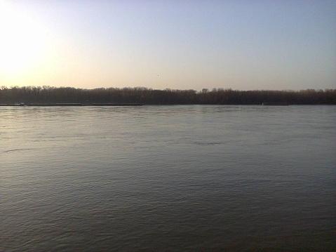 Romantic Twilight Danube River in Ruse