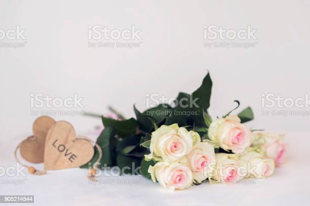 Romantic valentines blooming roses tender flowers pastel bouquet for picture id905214544?b=1&k=6&m=905214544&s=612x612&h=orgnwfjmwc3h9wwhxwbu72pzaaxu4sectsidyomhdlg=