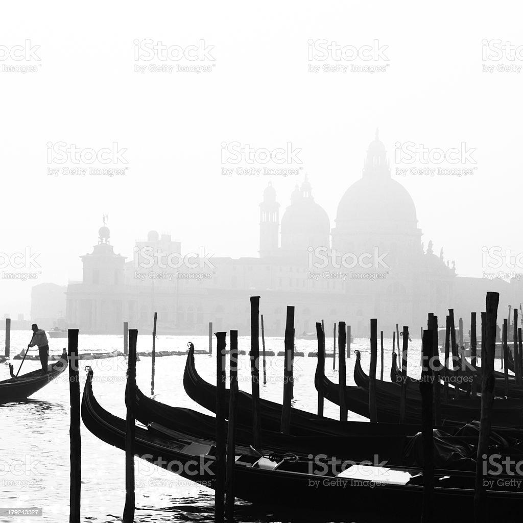 Romantic Venice, Italy in B&W. royalty-free stock photo