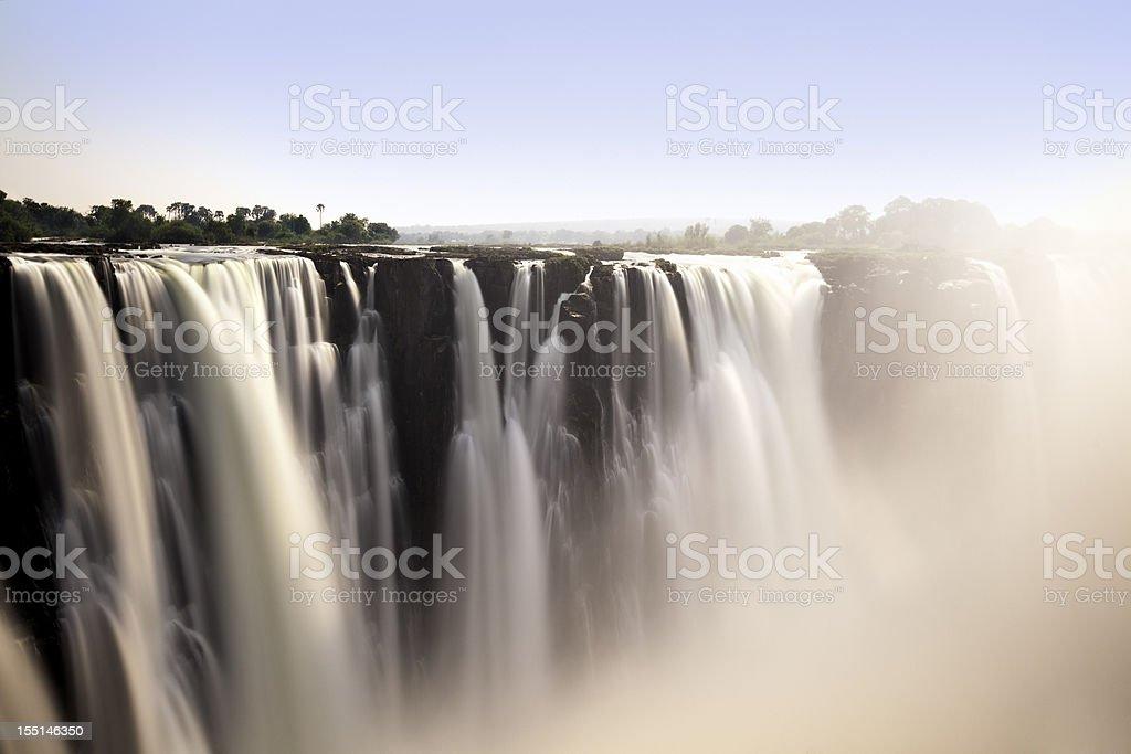 Romantic view of Victoria Falls stock photo