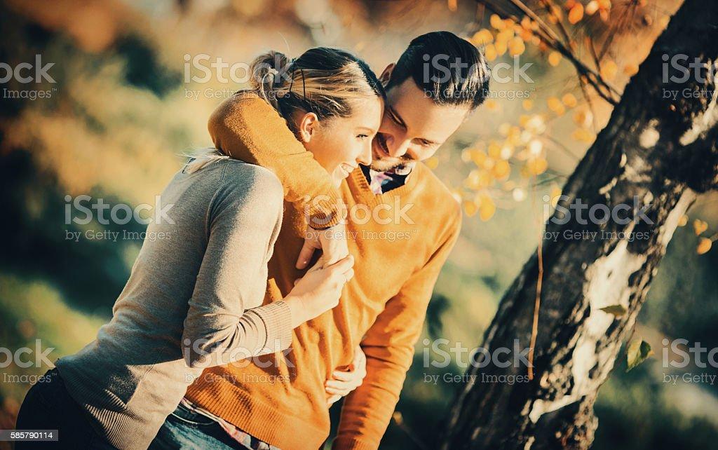 Romantic walk. stock photo