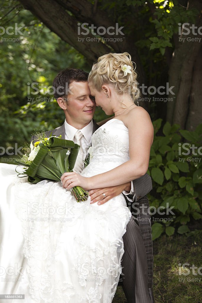 Romantic Wedding Couple stock photo