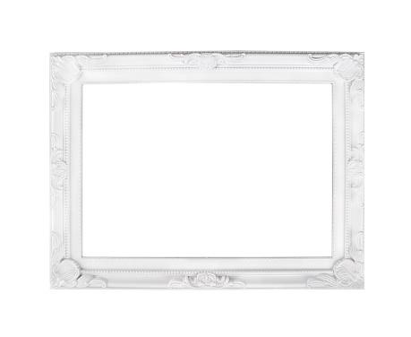Romantic white frame, isolated