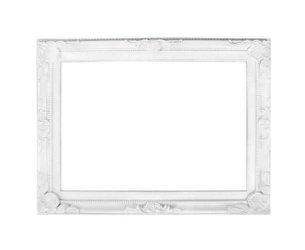 Romantic white frame, isolated stock photo