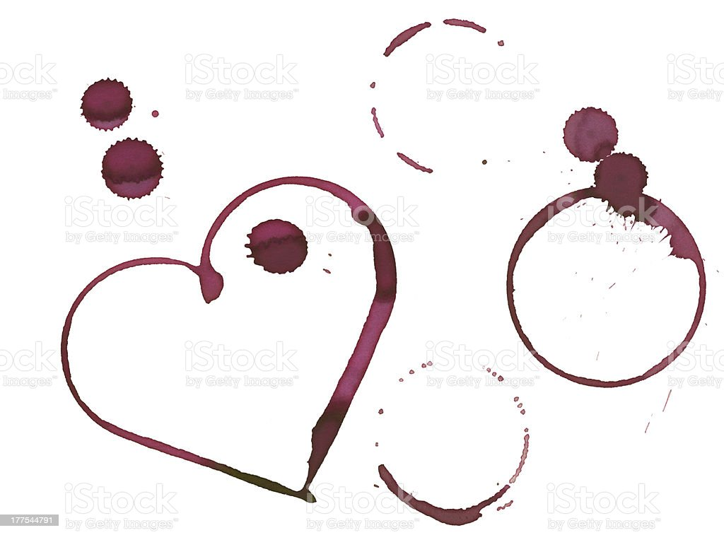 Romantic wine stains royalty-free stock photo