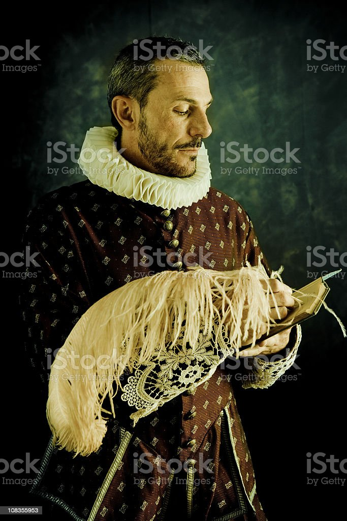 Romantic writer royalty-free stock photo