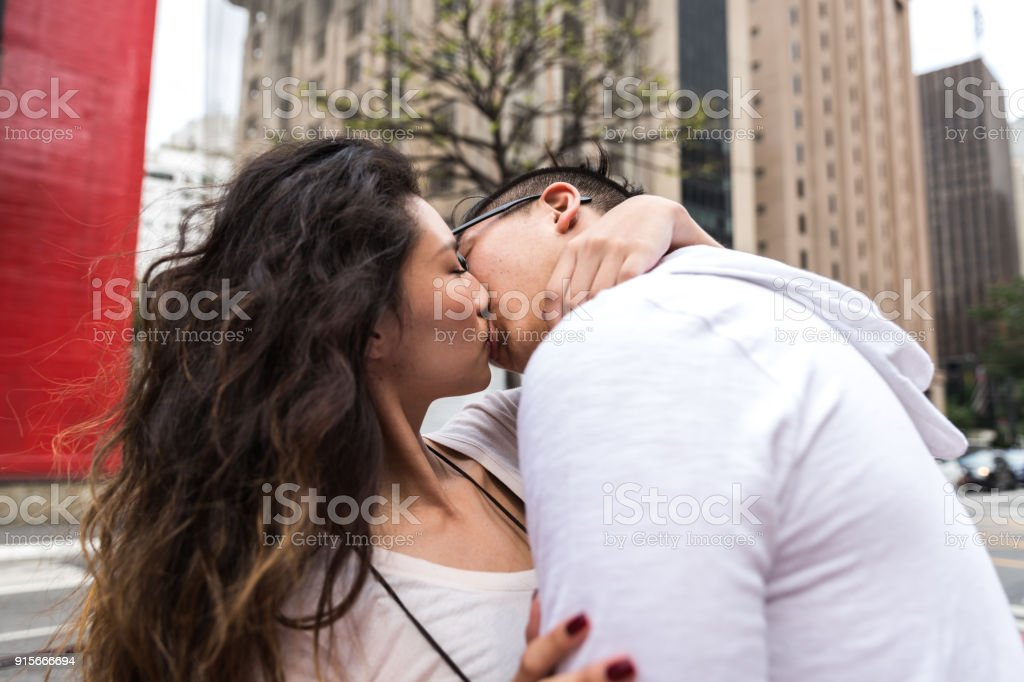 Romantic Young Asian Couple stock photo