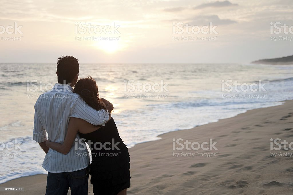 Romantic young couple royalty-free stock photo