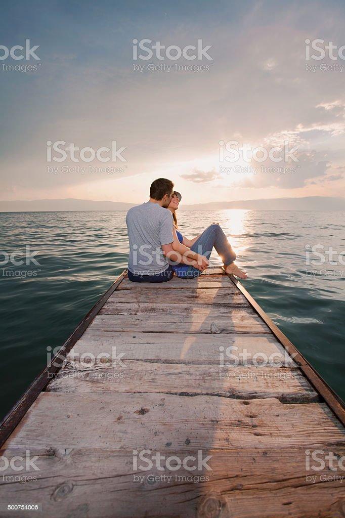 Romantic Young Couple stock photo