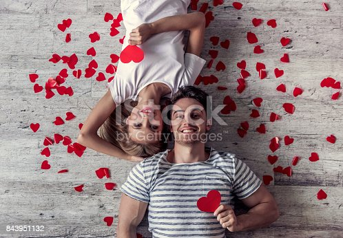 istock Romantic young couple 843951132
